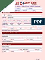 Application Form Account Opening UBI