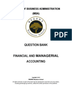 MBA-Financial and Managerial Accounting Question Bank