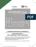 MANUAL LAVADORA DE ROPA AUTOMATICA DAEWOO