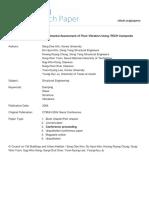 2004 Experimental Assessment of Floor Vibration Using Itech Composite Beam