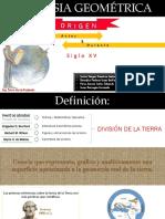 Geodesia Siglo XV