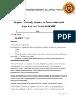 Fichas Tecnicas. Limpieza y Control de Escorrentia Superficial Pluvial en El Cenote de Uayma