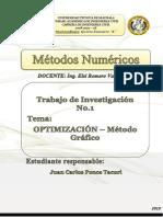 Método Gráfico - Optimización
