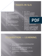 Course Syllabus of Introduction to SLA