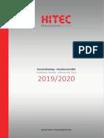 Hitec - Katalog 2019-2020 D, EN