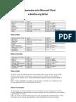Comparações entre Microsoft Word e Broffice