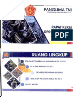 Paparan Panglima TNI ke Komisi I DPR-MPR Januari 2018