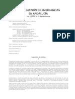 Ley de Gestión de Emergencias en Andalucía