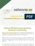 Selenne ERP Química para gestionar fórmulas y conversiones