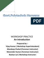 Workshop Practice Ppt