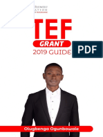 TEF 2019 GUIDE       Here's how to win the $5k grant