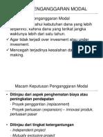 Kuliah 4 - Penganggaran Modal