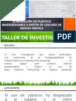 Elaboración de Plástico Biodegradable a Partir de Cáscara