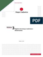 Módulo 3 - Registro de Licenças, Ausências e Afastamentos