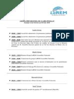 Agenda, Semaine 6