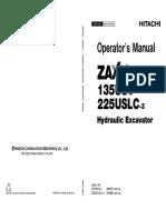 Hitachi ZAXIS 225USLC-3 Hydraulic Excavator operator's manual.pdf