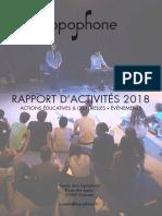 Topophone - Rapport d'Activité 2018