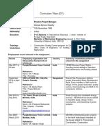 Resume Deepak PM