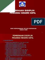 Pembinaan Disiplin Pns Tahun 2008a