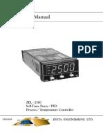 Zesta ZEL 2500 User Manual