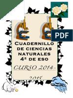 Cuaderno Ampliacion Ccnn 4eso - 2015-16