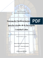 Tesis Sistema de Clasificación Jerárquico para los vitrales de la Necrópolis Cristóbal Colón - Adriana de La Nuez