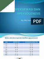 Apeksifikasi dan Apeksogenesis drg.Billy  Sujatmiko,SpKG.pptx