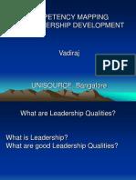 Competency for Leadership Dev