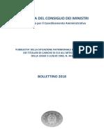 Bollettino 2018 sui redditi 2017 sui manager statali