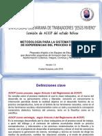 Metodología Para La Sistematización de Experiencias de Acicp v1r5 20160723-0841h