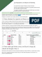15 Fórmulas Excel Para Agregar Superpoderes a Tus Reportes de Marketing
