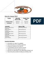 Camps Rates for June 2018