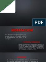 Hidratacion y Adicion de Acido