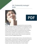 Adriana Goñi. Community Manager Contra El Olvido