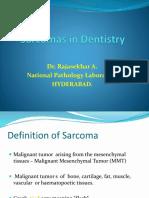 Sarcomas in Dentistry