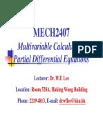 MECH2407 (Advanced Calculus Part I)