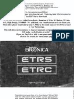 Bronica ETRC
