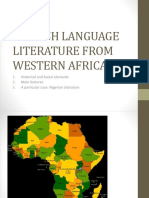 English Language Literature From Western Africa 1718. Pptx