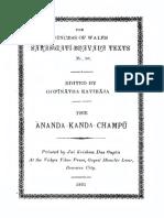 36AnandaKandaChampuOfMitraMishra NandaKishoreSharma1931sbt Text