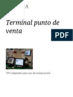 Terminal Punto de Venta Info
