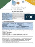 Guía de Actividades y Rúbrica de Evaluación - Tarea 5 - Trabajo Final