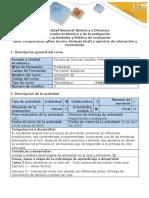 Guía de actividades y Rúbrica de Evaluación Tarea 3 - Tarea 3 Elaboración guion técnico (trabajo final) y ejercicio de interacción y movimiento