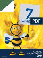 AMCO 5th Annual Regional Contest 2019 7th Grade Spelling List