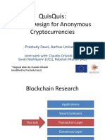 QuisQuis Anonymous Cryptocurrency