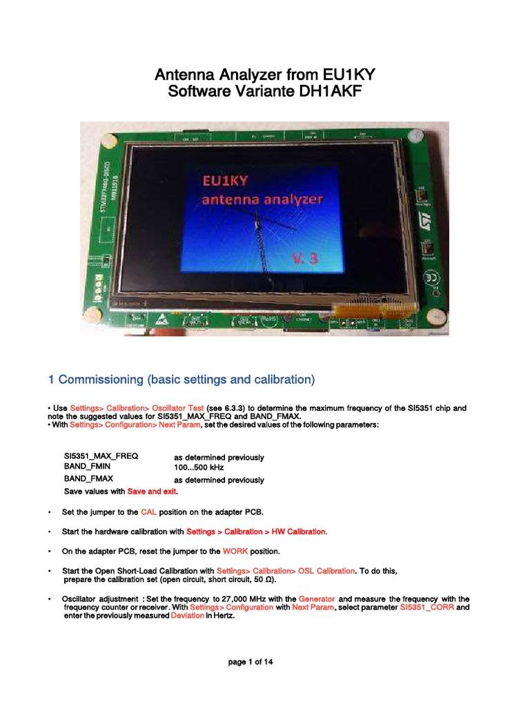 EU1KY_Analysator_1 4 English pdf   Impedansi Listrik   Frekuensi
