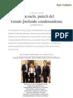 Venezuela, Putsch Del Estado Profundo _estadounidense, Por Manlio Dinucci