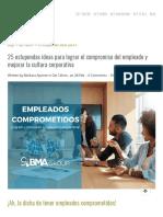 25 Estupendas Ideas Para Lograr El Compromiso Del Empleado y Mejorar La Cultura Corporativa