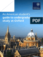 Guide for US Students 2017 Oxford University