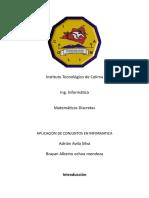 Aplicación de Conjuntos en Informatica