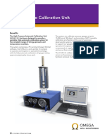 RG Omega 005 High Pressure Calibration Unit A4 Datasheet